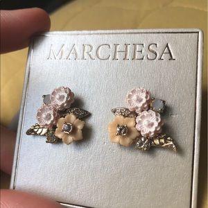 Marchesa Crystal Floral Stud Earrings